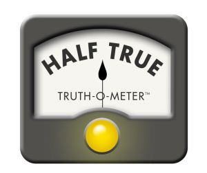 Half True vs. half-hearted, September 24, 2013. (Politifact.com).