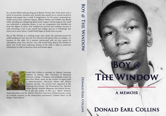 Boy @ The Window, front and back cover, and side, November 11, 2013. (Donald Earl Collins).