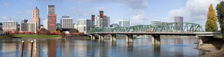 Panoramic shot of Hawthorne Bridge and downtown Portland, Oregon, October 14, 2013. (http://en.wikipedia.org).