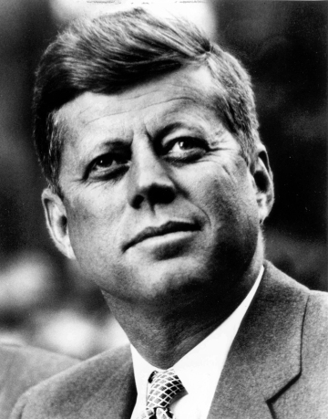 President John F. Kennedy, presidential portrait (1961-63). (Wikipedia via John Fitzgerald Kennedy Library, Boston)