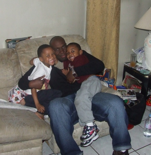 My older brother Darren, with nephews Roshad and Noah (my son), Mount Vernon, NY, November 23, 2006. (Donald Earl Collins).