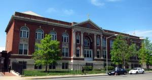 Gonzaga College High School, Washington, DC, April 12, 2010. (AgnosticPreachersKid via Wikipedia). Released to public domain via Creative Commons.