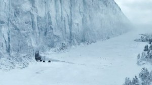 The Wall, viewing from the north, Game of Thrones (HBO), January 14, 2014. (http://gameofthrones.wikia.com/).