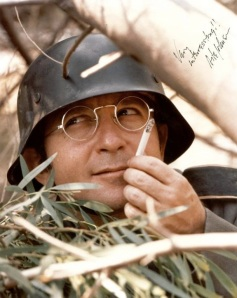 """Actor Arte Johnson as the Nazi German character Wolfgang on NBC's Laugh-In (1968-73), saying """"Very interresting..."""" per usual,  September 4, 2011. (http://photobucket.com)"""
