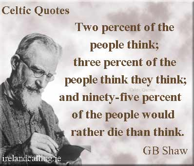 George Bernard Shaw and ignorance, June 2013. (http://www.irelandcalling.ie/).