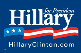 Logo of Hillary Rodham Clinton presidential campaign, December 13, 2008. (718 Bot via Wikipedia). Qualifies as fair use under US Copyright laws -- low resolution/critical commentary re: Hillary Clinton's possible 2016 Presidential run, a subject of public interest.