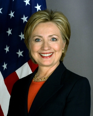 Hillary Rodham Clinton, official (67th) Secretary of State portrait, January 27, 2009. (Gage via Wikipedia, US Dept of State). In public domain.