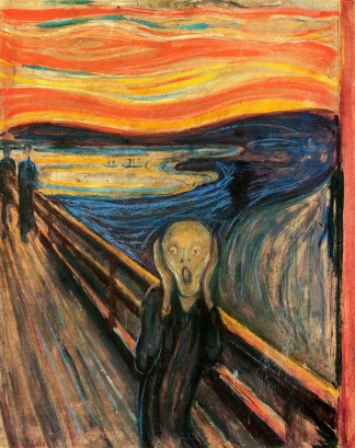 The Scream (1893) by Edvard Munch, The National Gallery, Oslo, Norway, November 27, 2013. (The Herald via Wikipedia). In public domain (US).