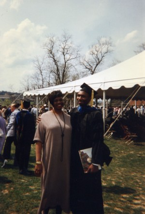 Me and Angelia at my PhD graduation, Carnegie Mellon University, May 18, 1997. (Edward Lomax).