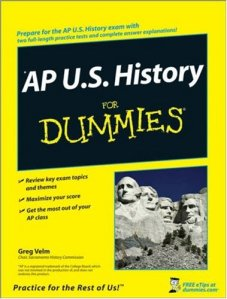 AP US History For Dummies cover (2008), May 13, 2014. (http://bookoutlet.com/).