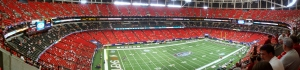 Panoramic pic of the Georgia Dome, Atlanta, GA (where was on the left of the field back in '94), August 30, 2008. (Latics via Wikipedia). Released to  public domain via CC-SA-3.0.
