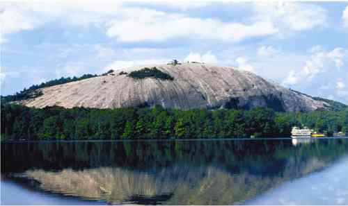 Stone Mountain Park, lake side view/photo (was within visual range on the road side view of Confederate-ana back in '94), Stone Mtn, GA, May 31, 2014. (http://new.gwinnetteconomicdevelopment.com/).
