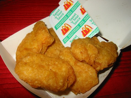 McDonald's Chicken McNuggets with Sweet and Sour Sauce, November 17, 2006. (The Food Pornographer via Flickr). In public domain.