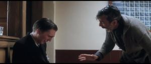 """Drainage! I drink your milkshake...I drank it up..."" scene/ screenshot from There Will Be Blood (2007), with Daniel Day Lewis and Pano Dano. (http://klipd.com/)"