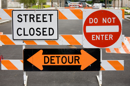 Detours vs. roadblocks, June 1, 2012. (http://www.ideaarchitects.org).