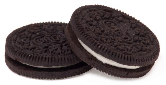 Two Oreo Cookies, February 6, 2011. (Evan-Amos via Wikipedia).