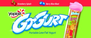 GoGurt, Yoplait's squeeze -in-mouth, portable yogurt, October 26, 2014. (http://freehotsamples.com).