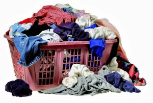 Dirty laundry in a basket, October 20, 2014. (http://plus.google.com).