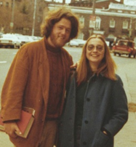 Bill and Hillary Clinton (nee Rodham), circa 1971, Yale University, New Haven, CT. (Charles F. Palmer/HuffPost via http://clintonlibrary.gov/photogallery.html?galAlbum=28).