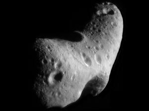Asteroid Eros, a near-Earth object, or NEO, June 16, 2014. (http://jpl.nasa.gov). In public domain.