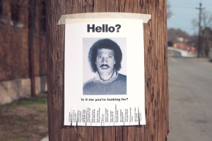 Lionel Richie on a mock-missing-person's flyer, March 20, 2011. (Chris Glass/Flickr.com).