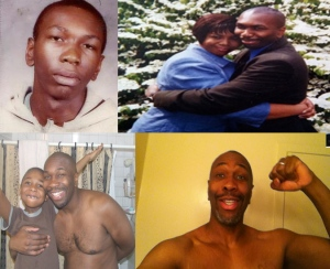 Collage of me at 15, 30 (with my wife), 40 (with my son), and 45, January 1, 2015. (Donald Earl Collins).