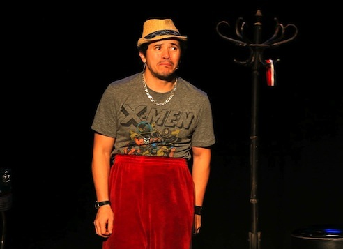 John Leguizamo playing 'Abuelo' in Tales from a Ghetto Klown, PBS Arts Festival, July 2012. (http://www.pbs.org).