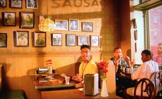 "Or, ""Sal, how come you ain't got no brothers up on the wall here?,"" Giancarlo Esposito as Buggin' Out from Do The Right Thing (1989). (http://www.theroot.com/)."