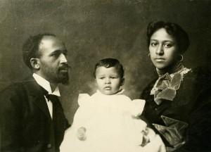 W. E. B. Du Bois and his wife Nina with their son, Burghardt, 1897. (http://scua.library.umass.edu).