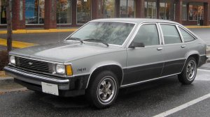 Front and left-side view of Chevrolet Citation II (1980-1985), Clinton, MD, August 28, 2008. (IFCAR via Wikipedia). Released to public domain.