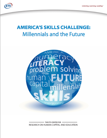 America's Skills Challenge: Millennials and the Future (cover), February 17, 2015. (ETS).