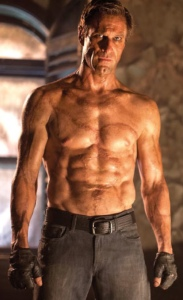 Aaron Eckhart as main character in movie I, Frankenstein (2014), August 12, 2013. (http://sciencefiction.com/).