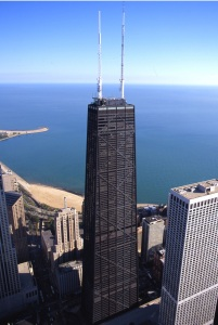 John Hancock Center, Downtown Chiicago - The Spencer Foundation is on the 39th Floor, April 14, 2015. (http://milenorthhotel.com).