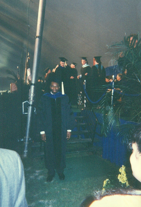 My stressed-out PhD walk photo, Carnegie Mellon University, May 18, 1997. (Angelia N. Levy).