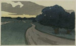 Arthur Wesley Dow (1857-1922), The Long Road--Argilla Road, Ipswich, circa 1898, April 28, 2010. (BrooklynMuseumBot via Wikipedia). In public domain.