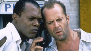 Screen with Samuel L. Jackson and Bruce Willis from Die Hard With A Vengeance (1995), posted February 28, 2013. (http://chud.com).