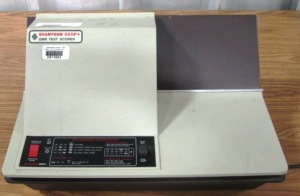 Old Scantron machine, January 24, 2012. (http://www.publicsurplus.com/).