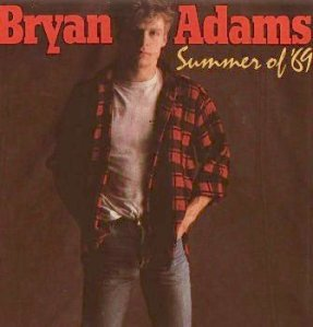 "Bryan Adams, ""Summer of '69"" (1985), December 6, 2006. (Purdy via Wikipedia, originally A&M Records). Qualifies as fair use, as image is low-resolution and for illustrative purposes only."
