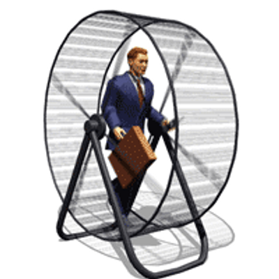 Man on a hamster wheel gif, like constantly looking for money, July 26, 2015. (http://twitter.com).