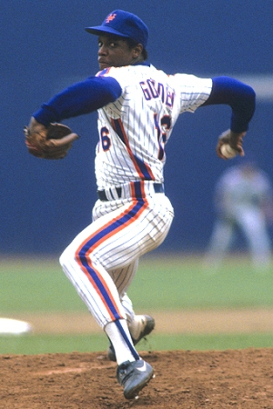 Dwight Gooden in 1985, 24-4, 1.53 ERA, 268Ks, Cy Young Award winner, intimidator. (Ronald C. Modra/Getty Images; http://espn.go.com).