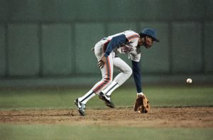 Rafael Santana, Mets shortstop from 1984-87, 1986 World Series, Boston's Fenway Park. (AP; http://www.newsday.com/ ).