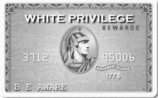 """White Privilege-Amex,"" April 2014. (http://theblacksphere.net/)."