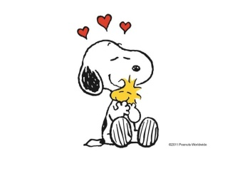 Snoopy hugging Woodstock, 2011 downloaded September 22, 2015. (http://pinterest.com; © Peanuts Worldwide).