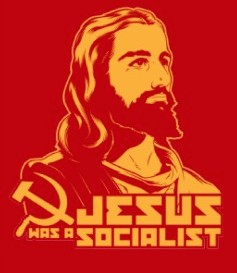 Jesus was a Socialist bumper sticker, an anachronism, October 12, 2015. (http://plus.google.com).