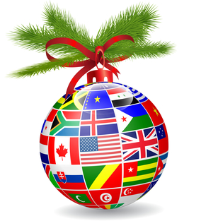 Christmas Holiday and Traditions Around The World ornament bulb, December 12, 2015. (http://johnseville.benchmark.us).
