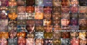 A collage of Black and Brown people killed by police and White vigilantes, February 2015. (http://thefreethoughtproject.com/ via Gawker.com).