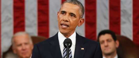 President Barack Obama's final State of the Union speech, The US Capitol, January 12, 2016. (Evan Vucci, Pool/AP, via http://abcnews.com).