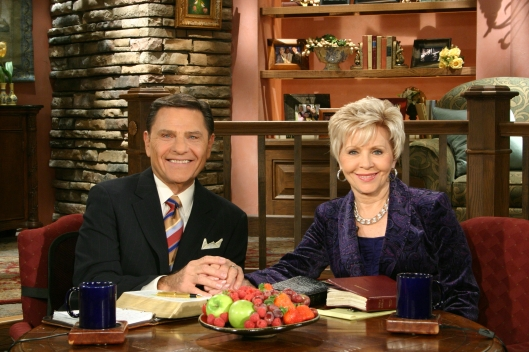 Kenneth and Gloria Copeland, Believer's Voice of Victory television broadcast, November 23, 2011. (Carpetsmoker via Wikipedia). Released to public domain via CC-SA-3.0.