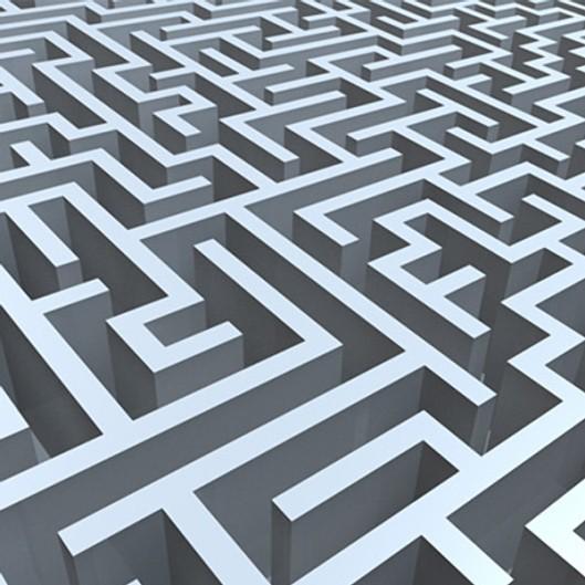 An endless maze, May 24, 2014. (http://turbosquid.com/).