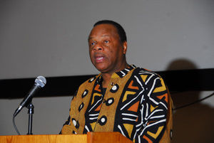 Molefi Asante speech, Philadelphia, PA, September 13, 2014. (AP photo/file).